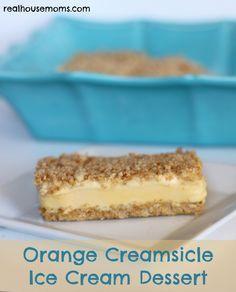 Orange Creamsicle Ice Cream Dessert