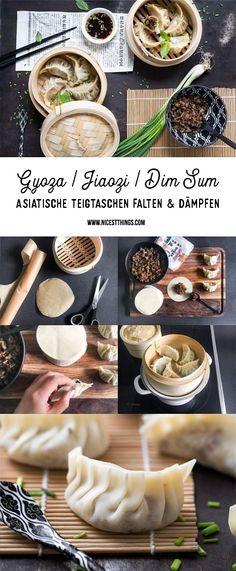 Gyoza, Jiaozi, Dim Sum, Dumplings: asiatische Teigtaschen Rezept mit Hackfleisch Füllung