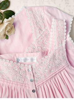 I love light pink dresses Baby Girl Dresses, Baby Dress, Pink Dresses, Night Gown Dress, Cotton Nighties, Nightgown Pattern, Night Dress For Women, Dress Neck Designs, House Dress