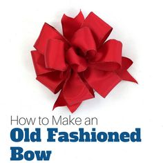 Quirky Kitchen Decor How-To-Make-An-old-fashioned-bow-for-a-wreath.Quirky Kitchen Decor How-To-Make-An-old-fashioned-bow-for-a-wreath Diy Ribbon, Ribbon Crafts, Wreath Crafts, Wreath Bows, Ribbon Bows, Mesh Bows, Ribbon Flower, Ribbon Hair, Fabric Flowers