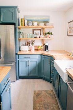 Home Decoration Ideas Videos .Home Decoration Ideas Videos Home Renovation, Home Remodeling, Kitchen Renovations, Kitchen Dining, Kitchen Decor, Kitchen Ideas, Teal Kitchen Cabinets, Purple Kitchen, Kitchen Counters
