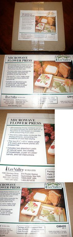 Dried Flowers 16493: New Garden Tools By Lee Valley Microwave Flower Press Healing Kit Gm420 Nib -> BUY IT NOW ONLY: $30 on eBay!