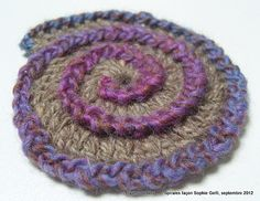 use as a base for making a flower ring.  Do the petals in each half of the stitches.  Ch 4 or 5, sl st in next front (back) stitch