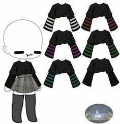 Manga Clothes, Drawing Clothes, Kawaii Clothes, Anime Outfits, Cute Outfits, Clothing Sketches, Cute Kawaii Drawings, Anime Poses, Fashion Design Drawings