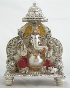 Gauri Decoration, Cow Logo, Diwali Decorations At Home, Silver Pooja Items, Ganapati Decoration, Hindu Statues, Pooja Room Door Design, Silver Furniture, Ganesha Pictures