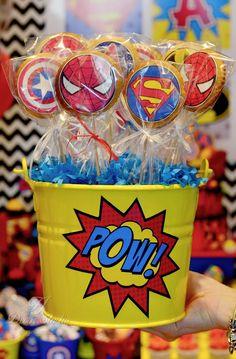 Avengers Birthday, Superhero Birthday Party, Boy Birthday, Super Hero Birthday, Birthday Parties, Lego Dc Comics, Pyjamas Party, Superhero Party Decorations, Comic Party