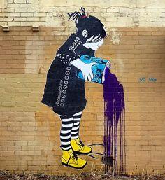 Snapping the graffiti, street art and architecture of Melbourne. Graffiti Murals, Street Art Graffiti, Street Art Love, Art Rules, Different Art Styles, Stencil Art, Outdoor Art, Chalk Art, Street Artists