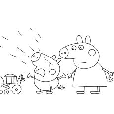 Peppa Pig Crying Print Coloring Images Peppa Pig Coloring Pages