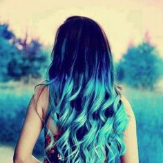 Top 5 Black / Brown Hair Extensions with Blue Tips Blue Green Hair, Black Brown Hair, Hair Color Blue, Dark Hair, Colored Hair, Hair Colors, Hair Color Quiz, Curled Hairstyles, Pretty Hairstyles