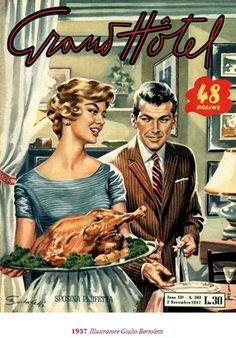 "1957, una copertina di ""Grand Hotel"", settimanale"