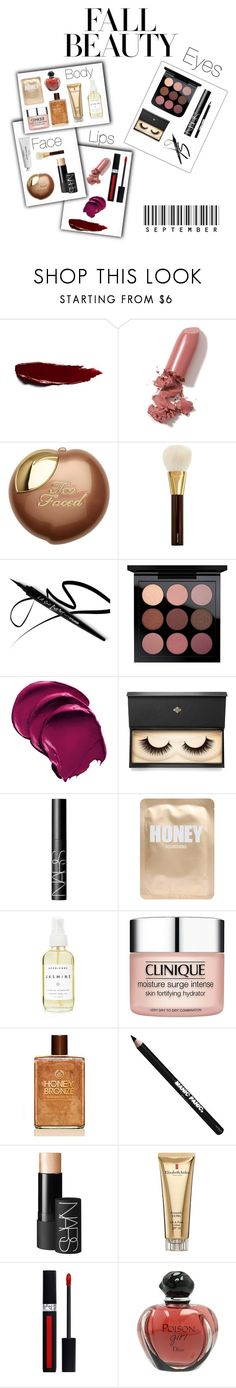 """""""Fall beauty"""" by sarahcanavan ❤ liked on Polyvore featuring beauty, LAQA & Co., Tom Ford, Lash Star Beauty, NARS Cosmetics, Lapcos, A Weathered Penny, Clinique, Manic Panic NYC and Elizabeth Arden"""