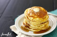 my family's favorite buttermilk pancakes - a farmgirl's dabbles