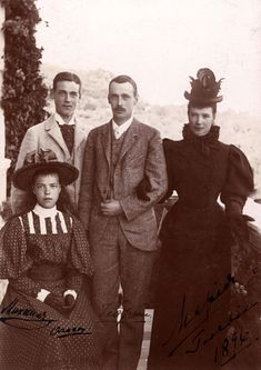 bulletproofjewels:  Dowager Empress Marie Feodorovna, with her three children, Grand Duke George Alexandrovich, Grand Duke Michael Alexandrovich and Grand Duchess Olga Alexandrovna, at George's home, Abbas Tuman. This photo was taken just three years prior to George's untimely death in 1899.