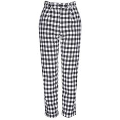 Topshop Gingham Mensy Trousers ($51) ❤ liked on Polyvore featuring pants, bottoms, topshop, trousers, plaid, tartan pants, topshop pants, topshop trousers, relaxed fit pants and high-waisted trousers
