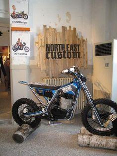 north east custom (from Dueruote) Honda Motorcycles, Custom Motorcycles, Custom Bikes, Cars And Motorcycles, Motorcycle Engine, Motorcycle Style, Bobber, Grease Monkey Garage, Image Moto