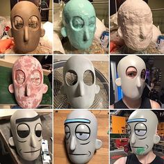 Work In Progress - Rebound 40 TASK 13 and Smooth-Cast 300 was used to create this Rick Mask. #ricksanchez #rickandmorty #ricksanchezcosplay #rickandmortycosplay #cosplay #mask #smoothon #moldmaking #casting : @lambhadamary
