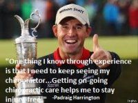 Padraig Harrington over chiropractie Padraig Harrington, Chiropractic Care, Tiger Woods, That's Love, Famous People, Athlete, Champion, Spaces, Baseball Cards