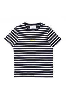 3f905d1b53 Stripe  wavy  T-Shirt by Serge DeNimes SS17 Collection. Serge DeNimes white  and navy ...