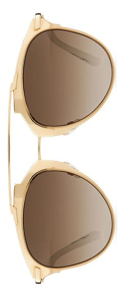 Dior  Mirrored Two-Tone Aviator Sunglasses