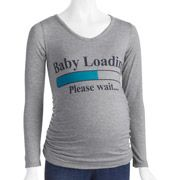 Planet Motherhood Maternity brand Baby Loading Graphic Tee