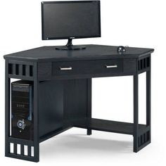 Leick Home Black Corner Computer/Writing Desk