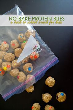 Easy No-Bake Protein Bites, a Back to School Snack for Kids | Our Holly Days /search/?q=%23ZiplockBackToSchool&rs=hashtag [ad]