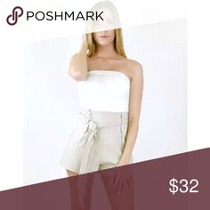 """🆕 Linen Wrap Tie Shorts Color: Tan  ✂️Material: will update   ❗️I DO reserve/hold items. Just ask, below, in the comment section. 👇🏽  ⚪️Use the """"Buy Now"""" or """"Add to Bundle"""" button to purchase.  ⚪️MY PRICE IS FIRM. I DO NOT TRADE. I WILL NOT ACCEPT YOUR OFFER. Please respect my business. Thank you. ❤️ Jaded Affairs Shorts"""