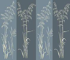 Wild Slender Oat Grass Stencil Grass Stencils Wild Grasses Wild Oats