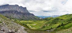 Le plateau de la Montagne d'Anterne avec le Refuge Alfred Wills et la Pointe de Sales