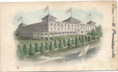 CONNEAUT LAKE PA POSTCARD 1906 EXPOSITION PARK HOTEL
