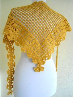 Ready to ship crochet  SaffronscarfHoliday by likeknitting on Etsy, $29.99