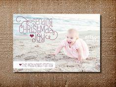Christmas Card, Photo Holiday Card, Sending Joy. $15.00, via Etsy.