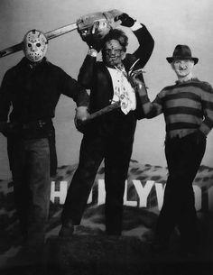 Jason Vorhees, Leatherfac & Freddy Krueger - WOWWWWWWW MIS TRES ASESINOS DE PELICULA FAVORITOS!! QUE FOTO MAS EPICA