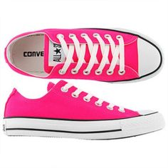 Converse Hot pink, barely worn converse! Really cute size 8 in women's 6.5 in men's. Will take best offer! Converse Shoes Athletic Shoes
