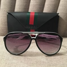 Gucci white sunglasses Authentic White Gucci sunglasses. Comes with case. Lens is medium tint. There are a few scratches on the lens but very minimal. Still have the receipt from original purchase Gucci Accessories Sunglasses