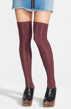 Free People Pointelle Over The Knee Socks available at #Nordstrom