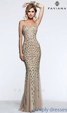 Shop our unique selection of designer prom dresses and evening gowns! From elegant evening wear to cute prom dresses, find the latest styles and trends at Faviana! Prom Dresses 2015, Cute Prom Dresses, Designer Prom Dresses, Elegant Dresses, Party Dresses, Beautiful Dresses, Bridesmaid Dresses, Animal Print Prom Dresses, Faviana Dresses