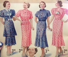 1930s Day Dresses (Spring, 1937)