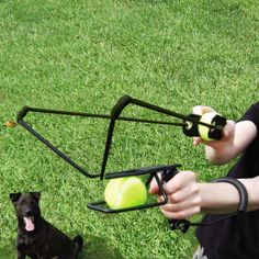 HyperDog Tennis Ball Slingshot Launcher by Hyper Pet - Can't keep up with your active pooch? Use this slingshot to easily play catch.   #slingshot #dogtoys #TheStore  http://thestore.com/hyperdog-tennis-ball-slingshot-launcher-by-hyper-pet/TSWY2CM3IF