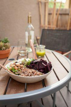 Grilled Beet, Quinoa, and Feta Salad