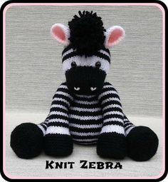Knit Zebra by Rainebo | Knitting Pattern - Looking for your next project? You're going to love Knit Zebra by designer Rainebo. - via @Craftsy
