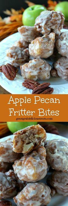 apple pecan fritter bites