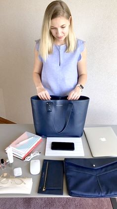 An Ultimate Work Bag for women who travel frequently, work outside the office and have things to do both before-and after-hours. BRERA Tote is big enough to hold your laptop and other work essentials. Source by Bags videos Office Bags For Women, Office Outfits Women, Laptop Bag For Women, Laptop Bags, Laptop Tote Bag, Travel Bags For Women, Messenger Bags, Work Tote, Work Bags