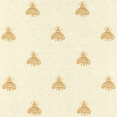 bee upholstery fabric | Brewster Cream Bee Woven Upholstery fabrics: