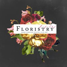 Introducing a brand new collection and style of clip art - Digital Floristry. At Create the Cut we are so passionate about bringing you innovative