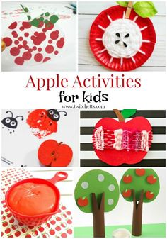 Apple themed crafts and activities for preschooler and kindergarteners. From apple crafts for kids to fine motor and fun activities for young children. Kindergarten Activities, Preschool Activities, Apple Crafts, Apple Activities, Non Toy Gifts, Crafts For Kids To Make, Kids Crafts, Popsicle Stick Crafts, Painting For Kids