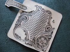 Leather-Pattern-Long-Wallet-DIY-Sheridan-Style-Template-Leathercraft-Tools-8018