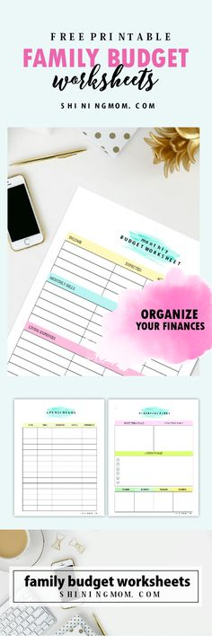 Successfully manage your finances with these FREE printable family budget worksheets!