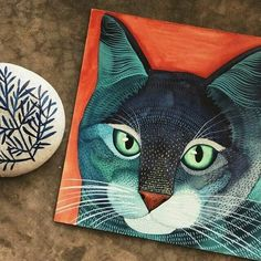Painted kitty by Geninne