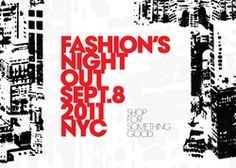 Fashion's Night Out!!!